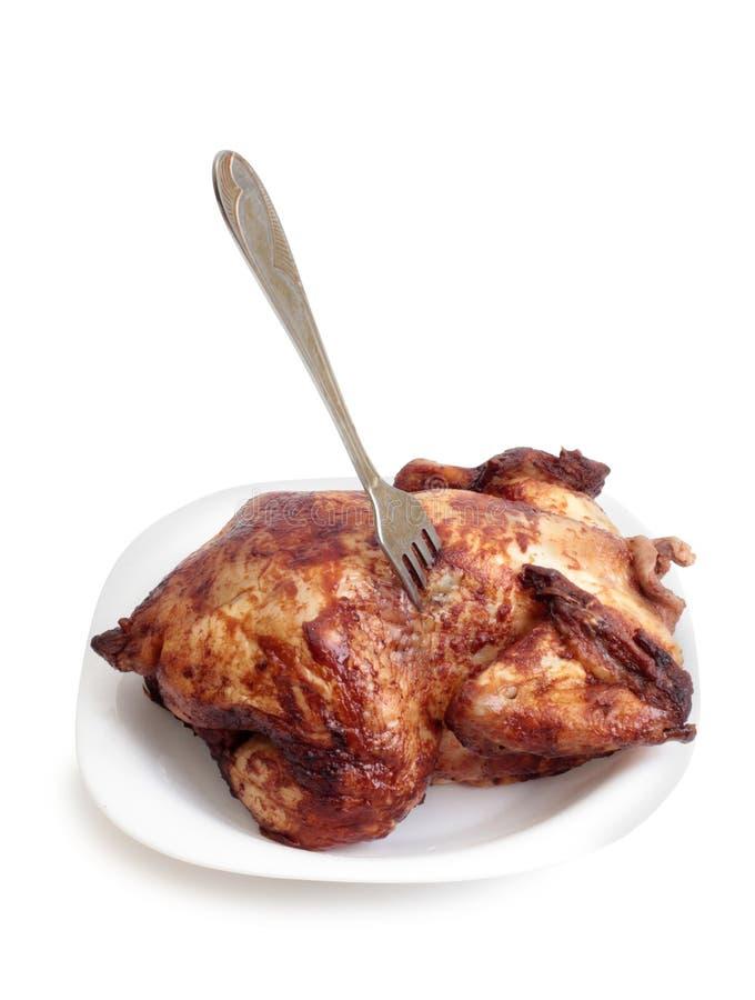 Kippenvlees op wit tien stock foto