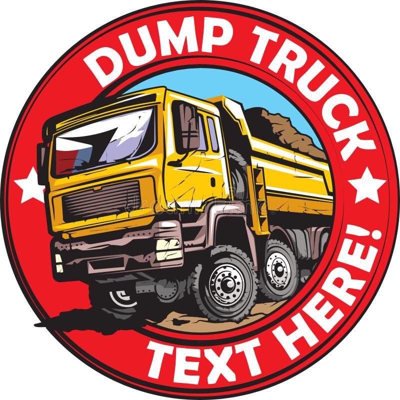 Kippersvrachtwagen stock illustratie