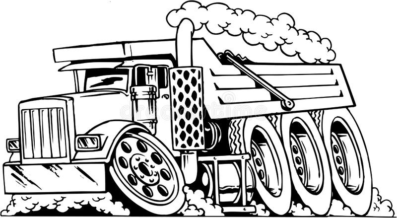 Kipplaster-Karikatur-Illustration lizenzfreie abbildung