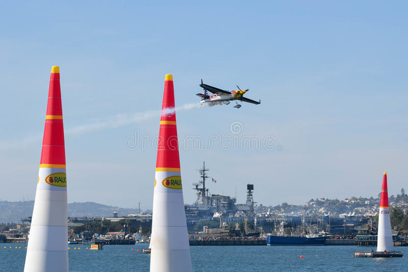 Kirby Chambliss of USA performs during Red Bull Air Race stock photography
