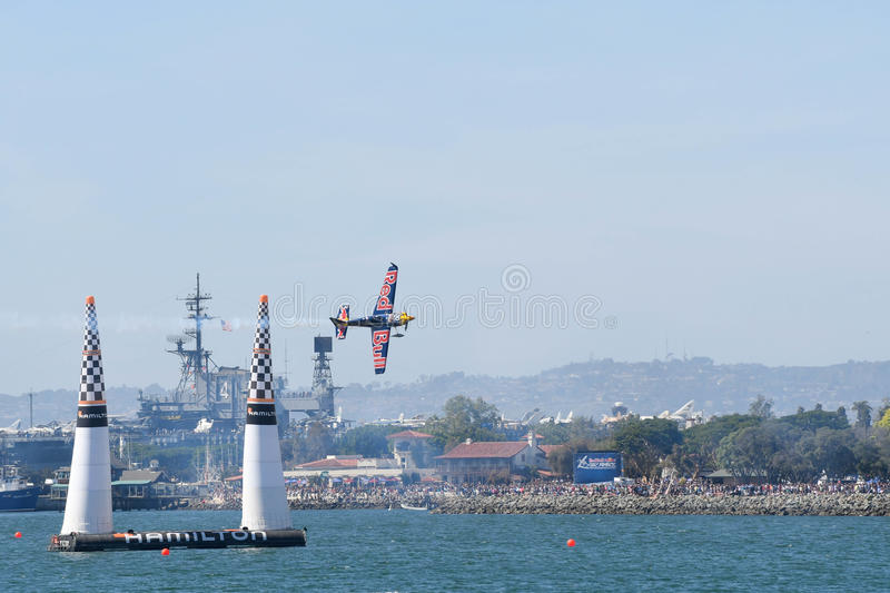 Kirby Chambliss of USA performs during Red Bull Air Race royalty free stock images