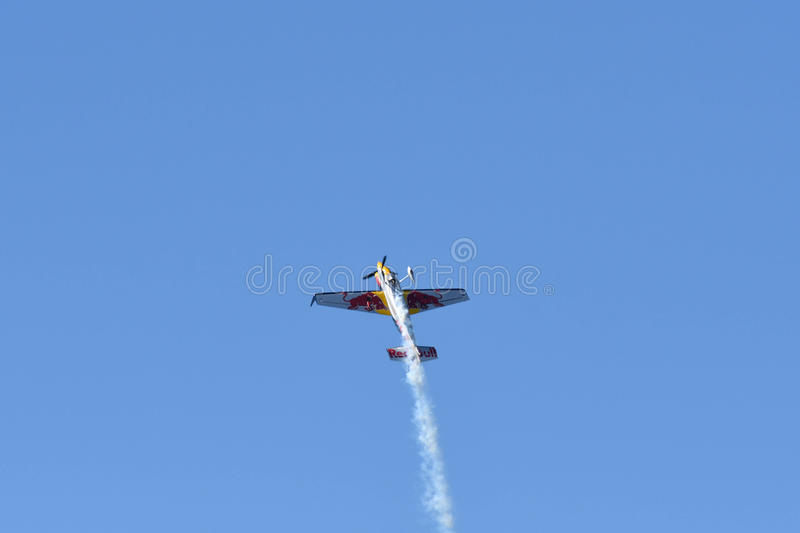 Kirby Chambliss of USA performs during Red Bull Air Race stock photo
