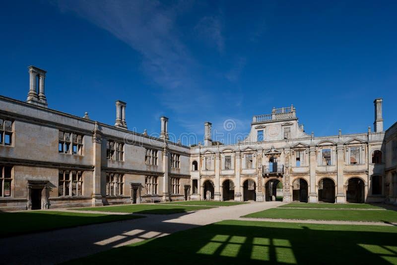 Kirby Hall Northamptonshire England lizenzfreie stockfotografie