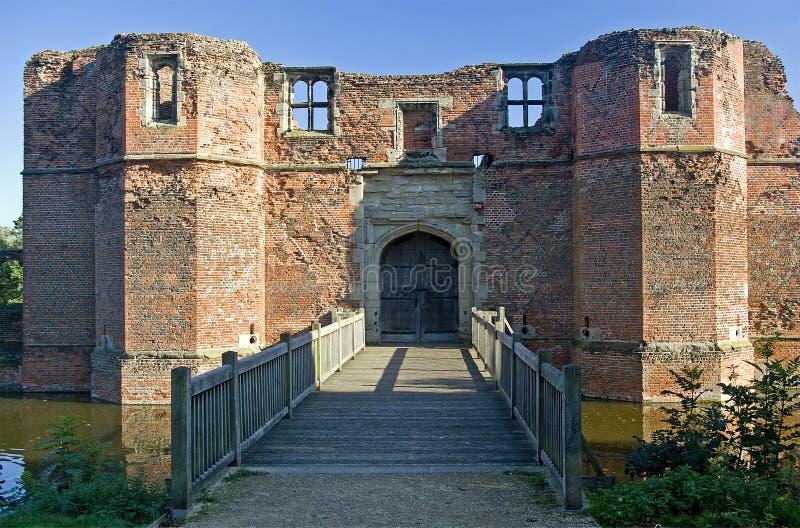 Download Kirby Muxloe Castle stock photo. Image of gatehouse, bridges - 21423764