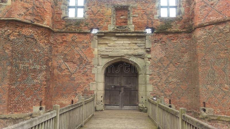 Download Kirby Muxloe Schloss stockbild. Bild von wolke, burggraben - 96926245