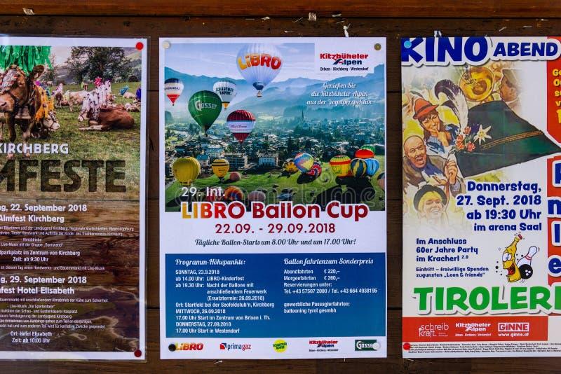 Kirchberg dans le Tirol, le Tirol/Autriche - 21 septembre 2018 : Fonctionnaire photo stock
