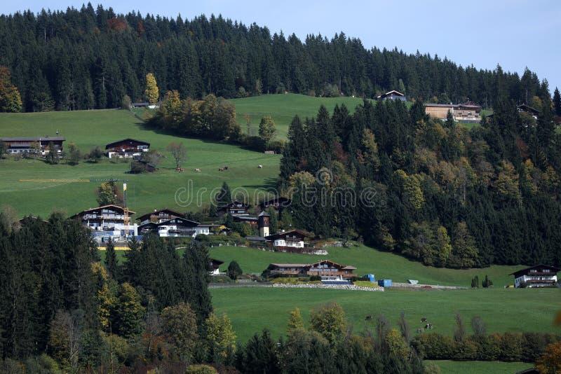 Kirchberg dans le Tirol, beau paysage photographie stock libre de droits