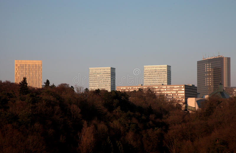 Kirchberg Luxemburg royalty-vrije stock fotografie