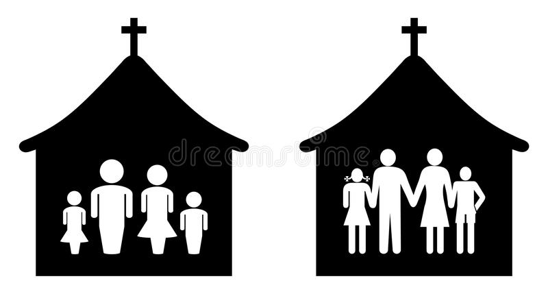 Kirche vektor abbildung