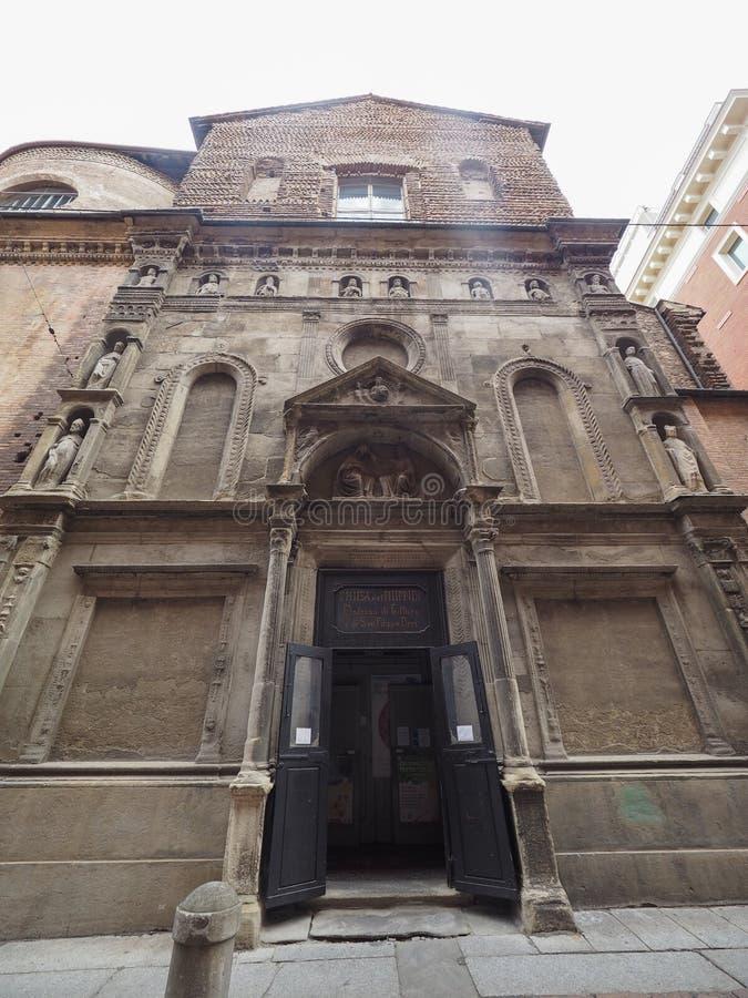 Kirche alias San Filippo Neri Madonnas di Galliera im Bologna stockbilder