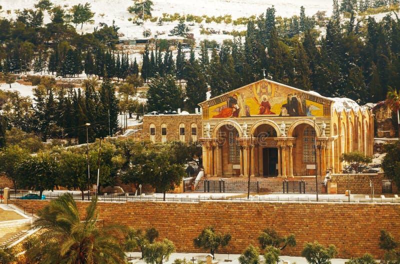Kirche aller Nationen in Jerusalem lizenzfreie stockfotografie