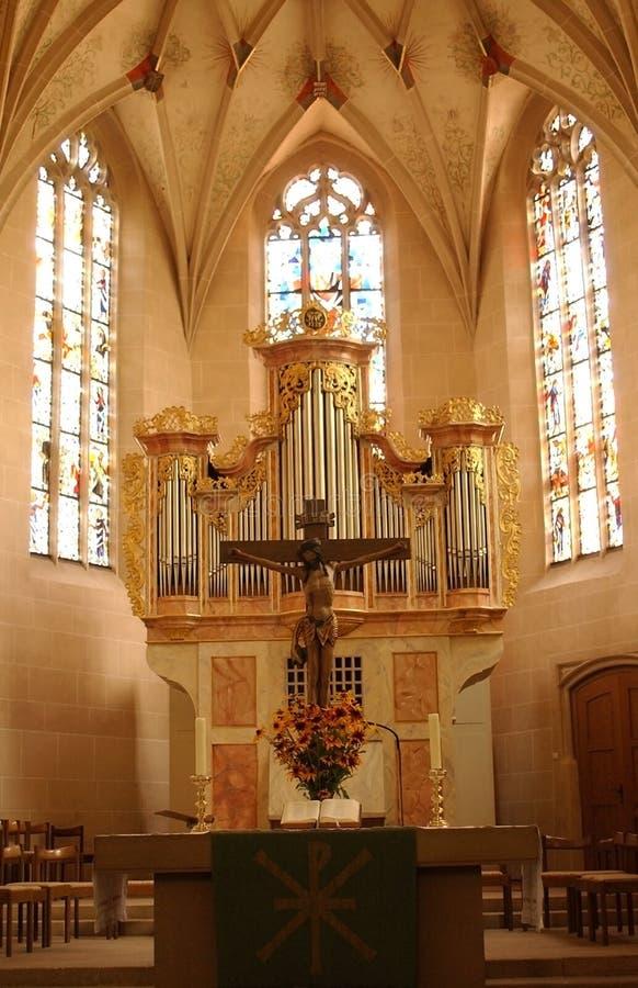 Kirche-Altar stockbild