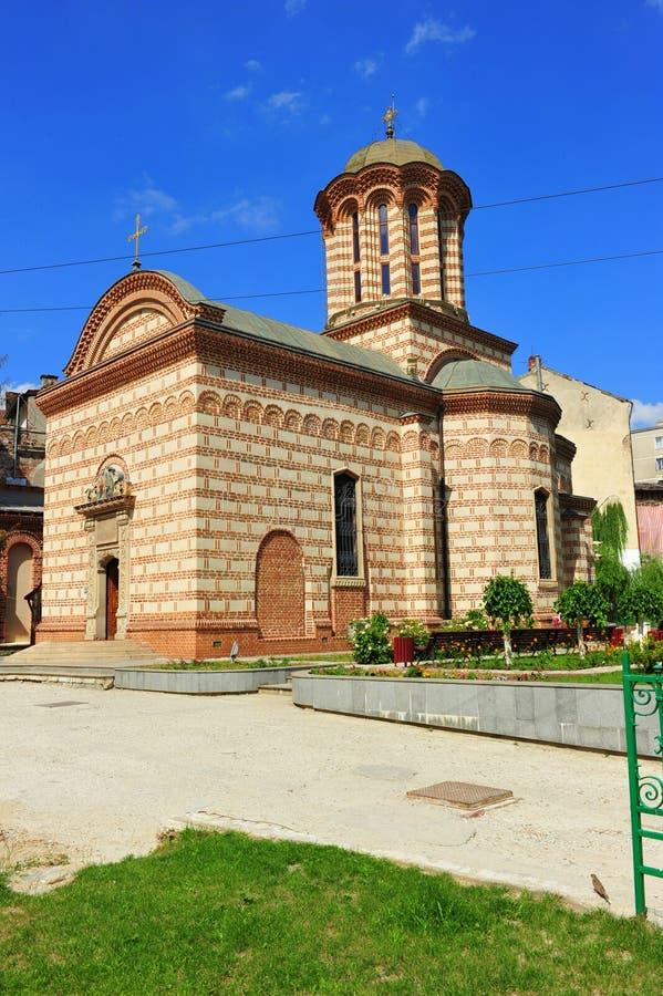 Kirche - altes Stadtzentrum von Bukarest lizenzfreies stockbild
