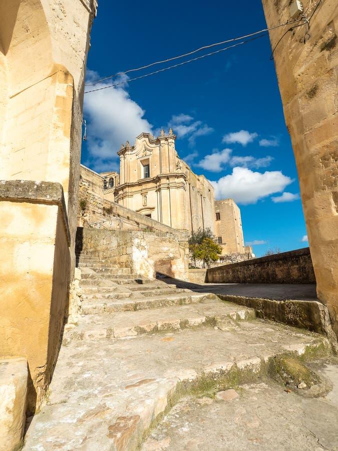 Kirche auf der Treppe stockfoto