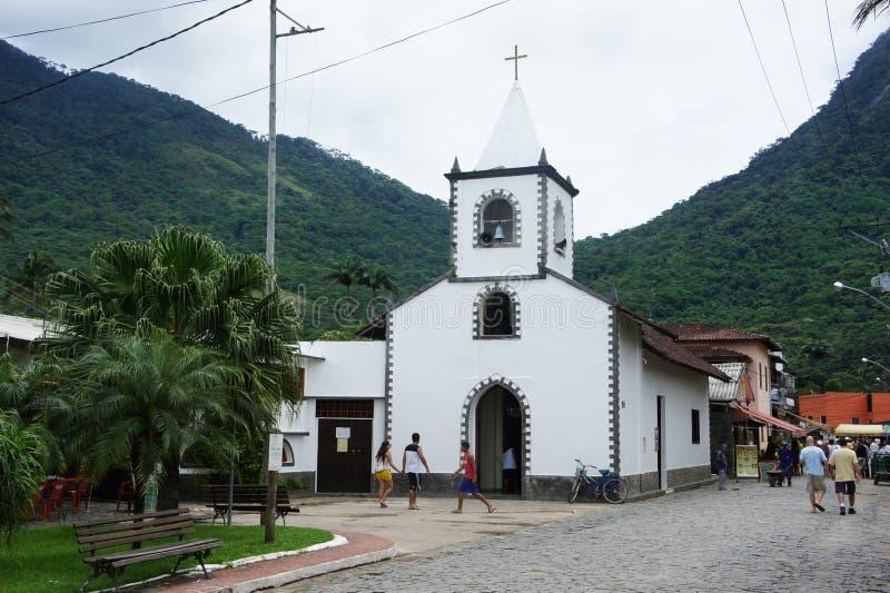 Kirche auf Ilha groß, Brasilien lizenzfreies stockfoto