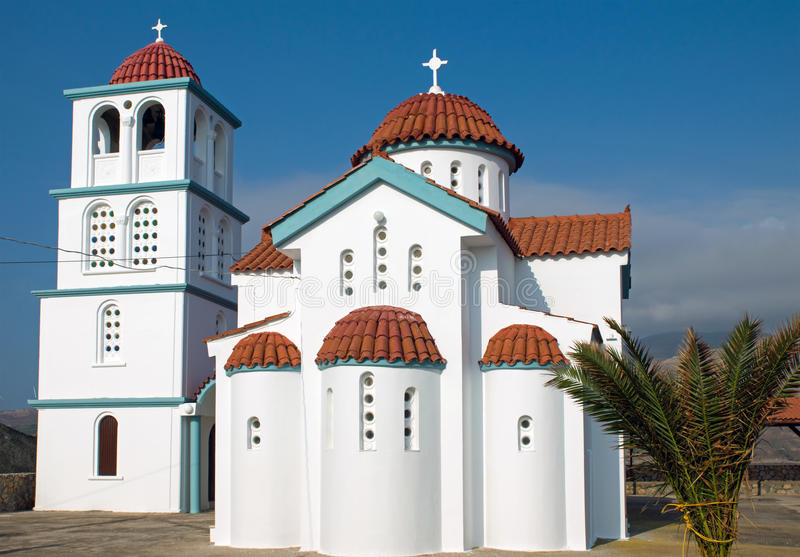 Download Kirche auf Kreta-Insel stockfoto. Bild von blau, schönheit - 27735432