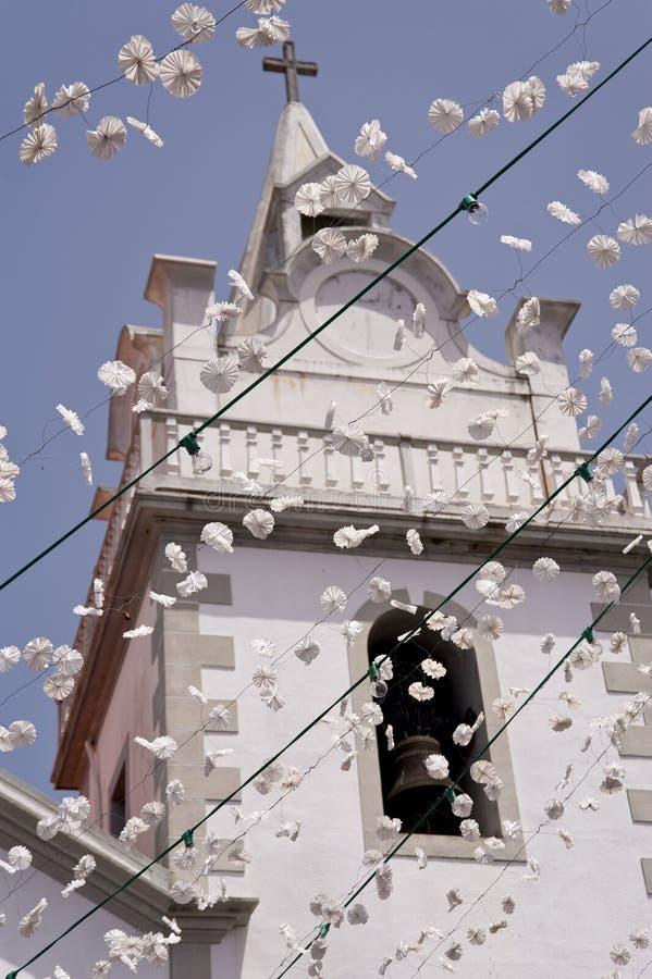 Kirche auf Madeira stockfotos