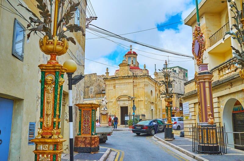 Kirche Besuchs-St. Cataldus in Rabat, Malta lizenzfreie stockfotos
