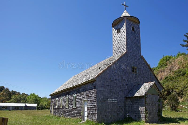 Kirche in Caulin-Dorf, Chiloe-Insel, Chile stockfotos