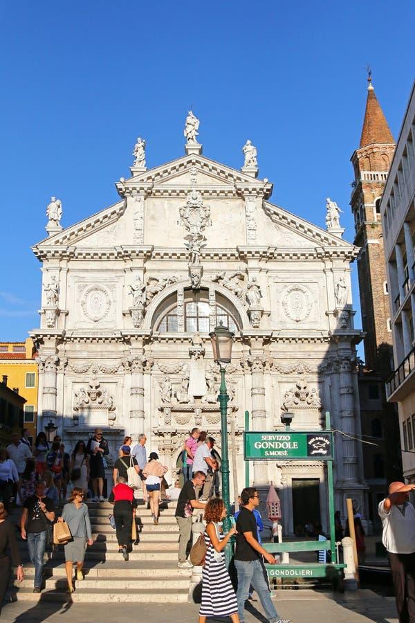 Kirche Chiesa di San Moise (San Moise Profeta) in Venedig, Italien lizenzfreies stockfoto
