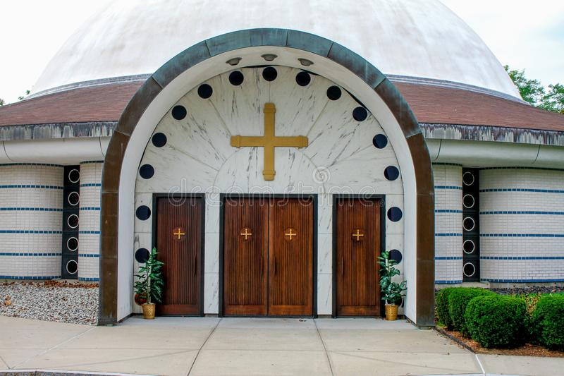 Kirche der Ankündigung, Cranston, RI stockbild