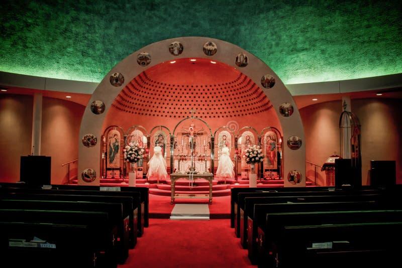 Kirche der Ankündigung, Cranston, RI stockfotos