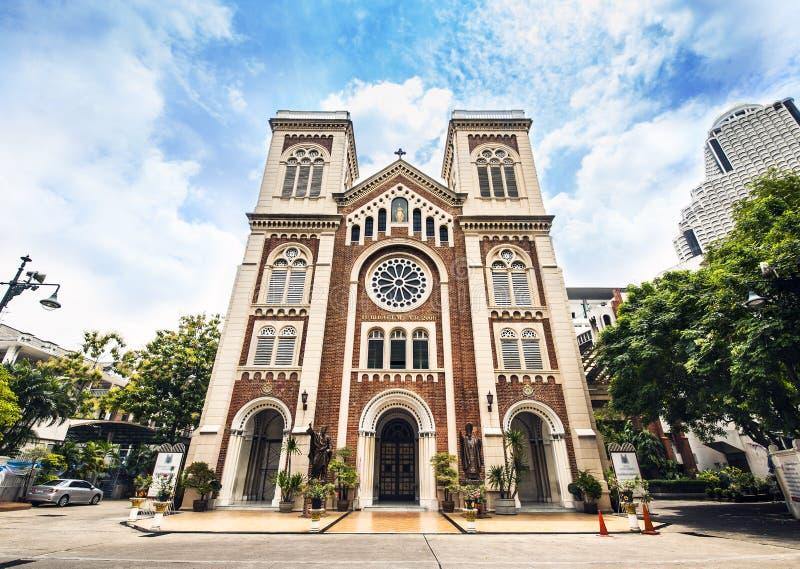 Kirche der Asien-Annahme-Kathedrale, Bangkok Thailand. Touristenattraktion. stockfotos