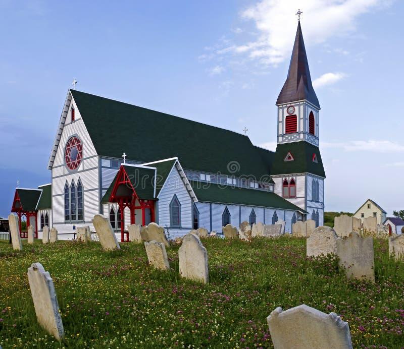 Kirche in der Dreiheit in Neufundland lizenzfreie stockfotos
