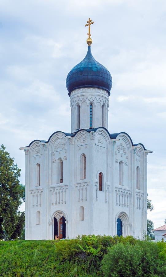 Kirche der Fürbitte auf dem Nerl (1165) lizenzfreie stockfotografie