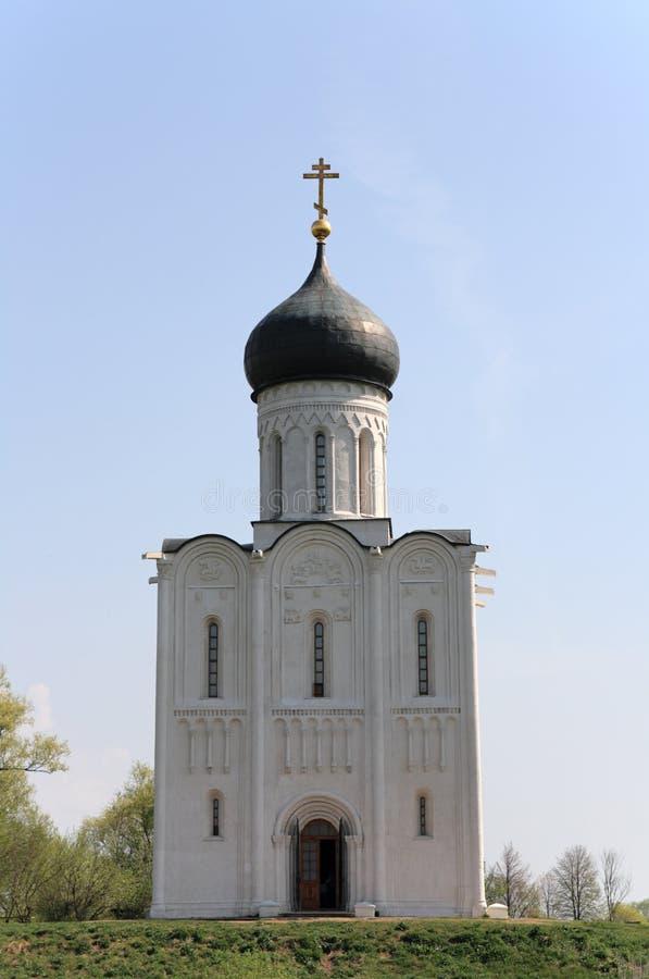 Kirche der Fürbitte auf dem Nerl, Russland lizenzfreie stockbilder