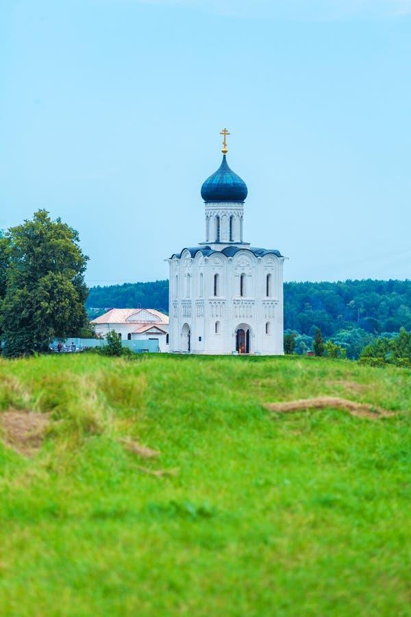 Kirche der Fürbitte auf dem Nerl (1165), UNESCO-Erbe s lizenzfreies stockbild