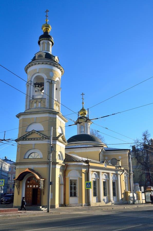 Kirche der Geburt Christi der gesegneten Jungfrau in Kulishki Straße Solyanka, 5/2 moskau stockfotos