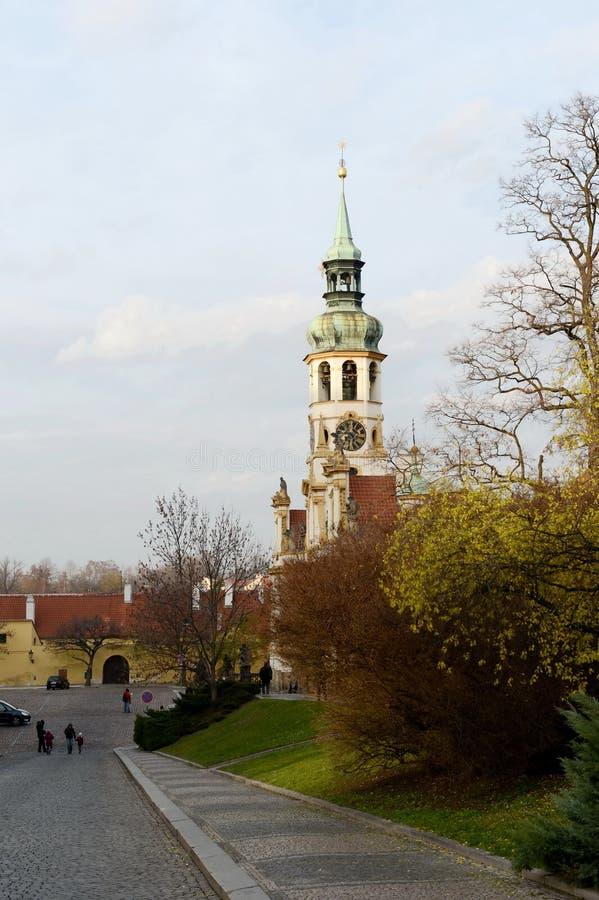 Kirche der Geburt Christi des Lords, das Prag Loreta stockfoto