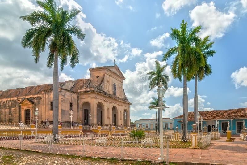 Kirche der Heiligen Dreifaltigkeit an Piazza-Bürgermeister stockfotos