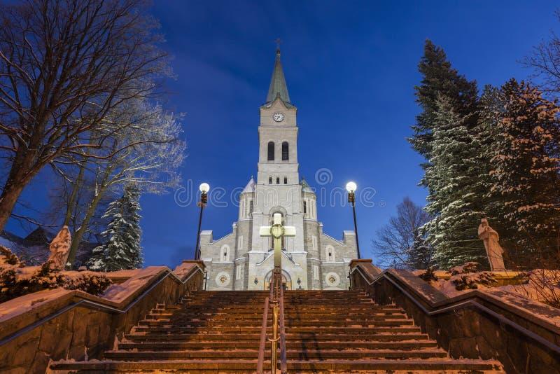 Kirche der heiligen Familie in Zakopane stockbild