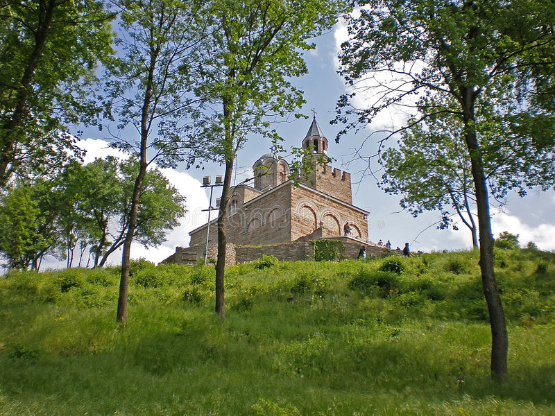 Kirche in der Tsarevets Festung lizenzfreies stockfoto