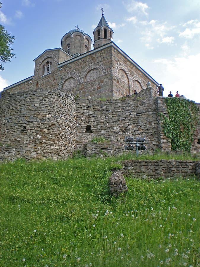 Kirche in der Tsarevets Festung stockfotografie