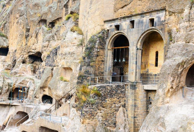 Kirche des Dormition im Vardzia-Höhlenkloster georgia lizenzfreie stockfotografie