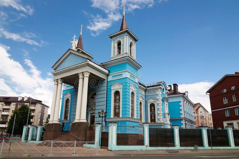 Kirche des Exaltation der heiligen queren katholischen Kirche in Kasan lizenzfreie stockfotos