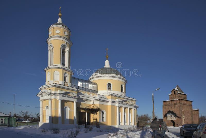 Kirche des Exaltation des heiligen Kreuzes in Kolomna der Kreml, Russland stockfotografie