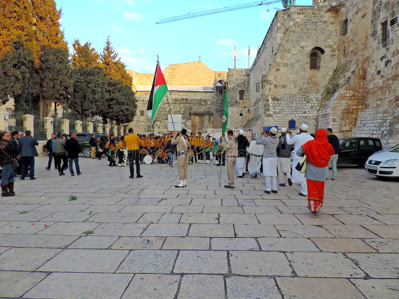 Kirche des Geburt Christis, Bethlehem stockbild