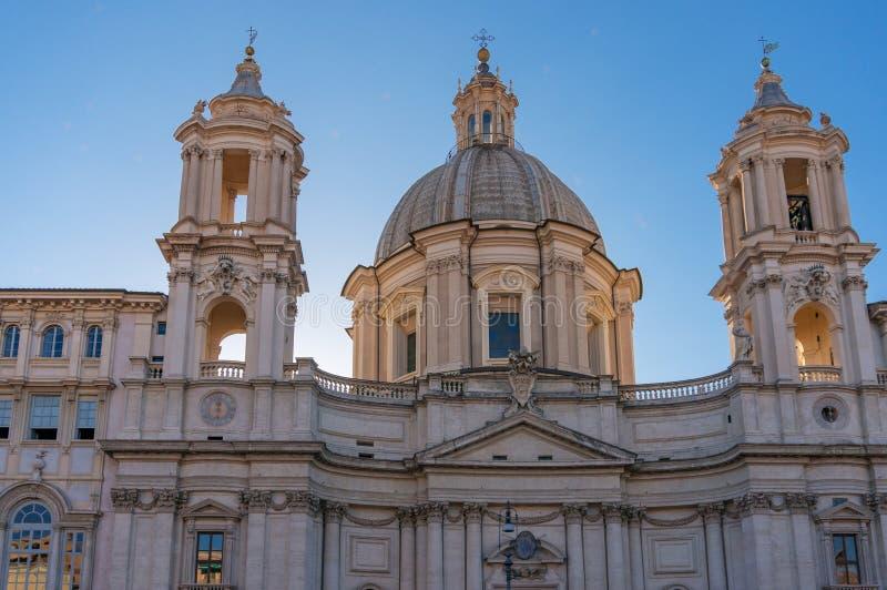 Kirche des Heiligen Agnese in Agone auf Marktplatz Navona in Rom, Italien stockfoto