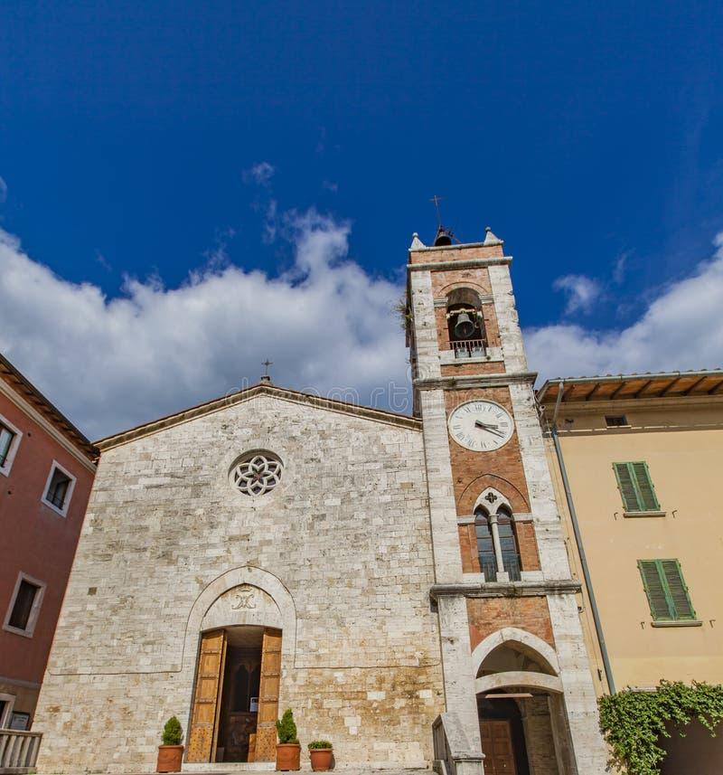 Kirche des Heiligen Franziskus in ` Orcia Sans Quirico d lizenzfreie stockfotos