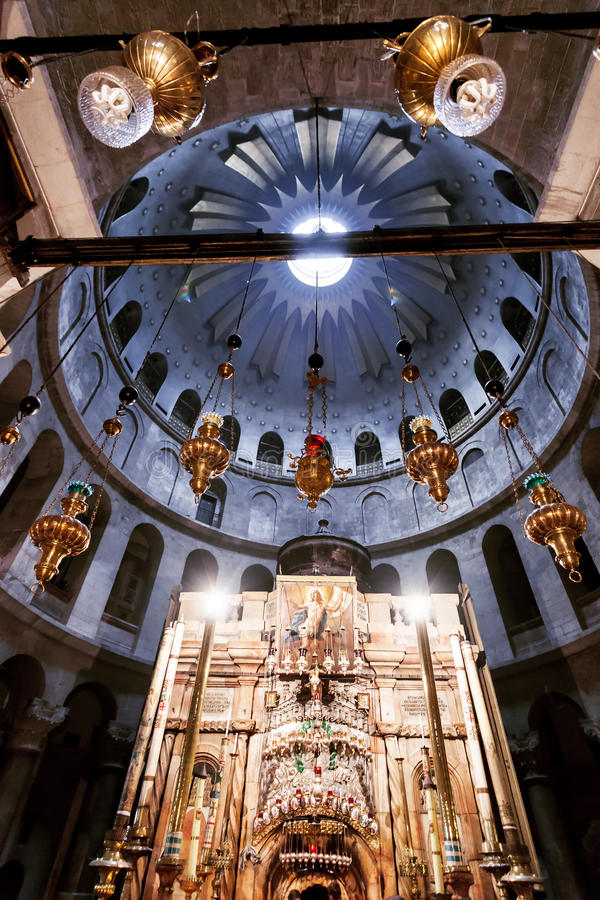 Kirche des heiligen Grabes in der alten Stadt Jerusalem, Israel stockbild