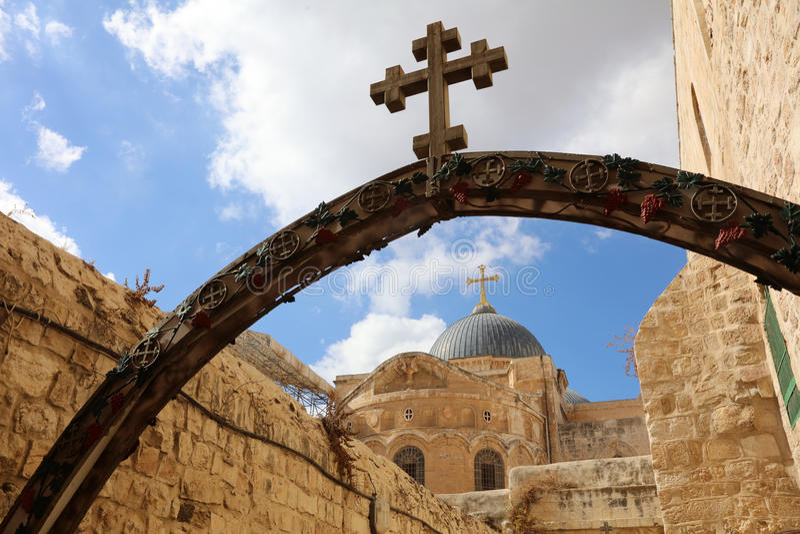 Kirche des heiligen Grabes jerusalem stockbilder