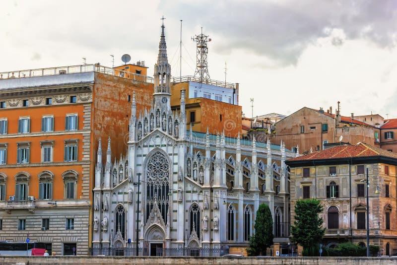 Kirche des heiligen Herzens von Jesus in Prati in Rom, Italien stockfotos