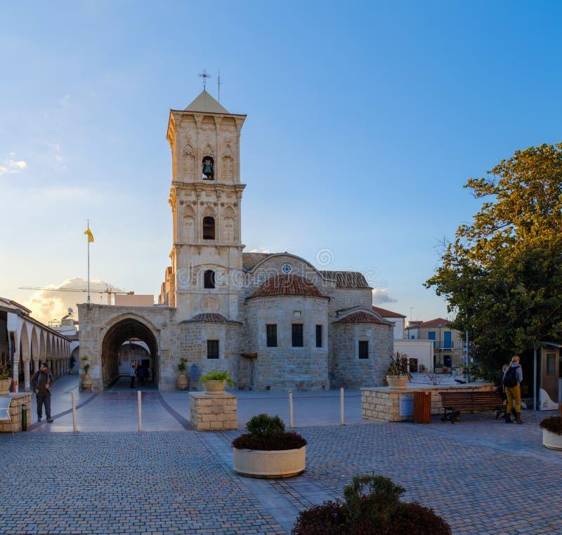 Kirche des Heiligen Lazarus in im Stadtzentrum gelegenem Larnaka stockbild