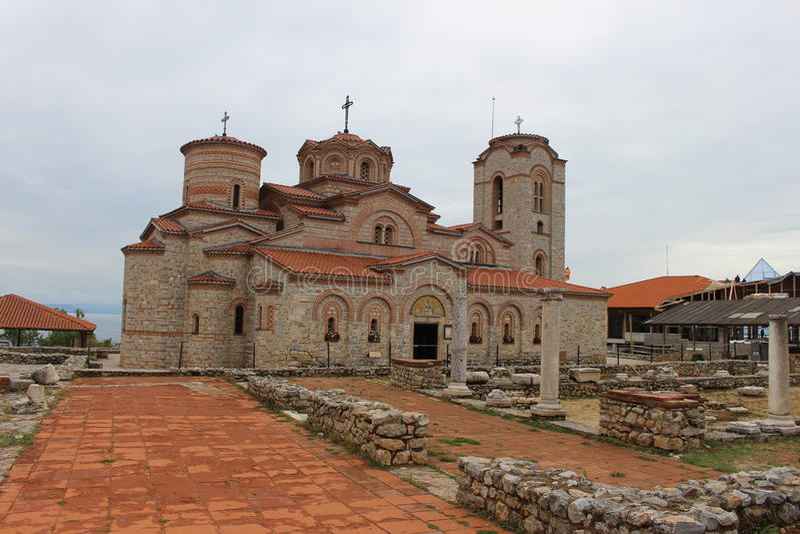 Kirche des Heiligen Panteleimon u. St Clement - Ohrid lizenzfreie stockfotos