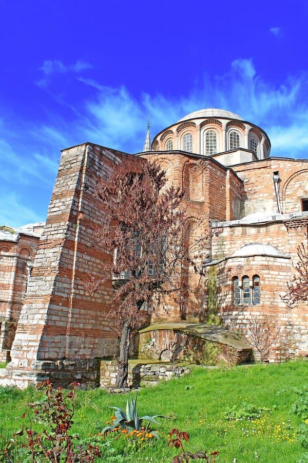Kirche des heiligen Retters in Chora, Istanbul, die Türkei stockfotografie