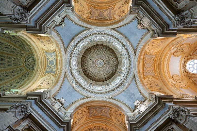 Kirche des Heiligen Umberto - Reggia di Venaria Reale Turin Italien lizenzfreies stockbild